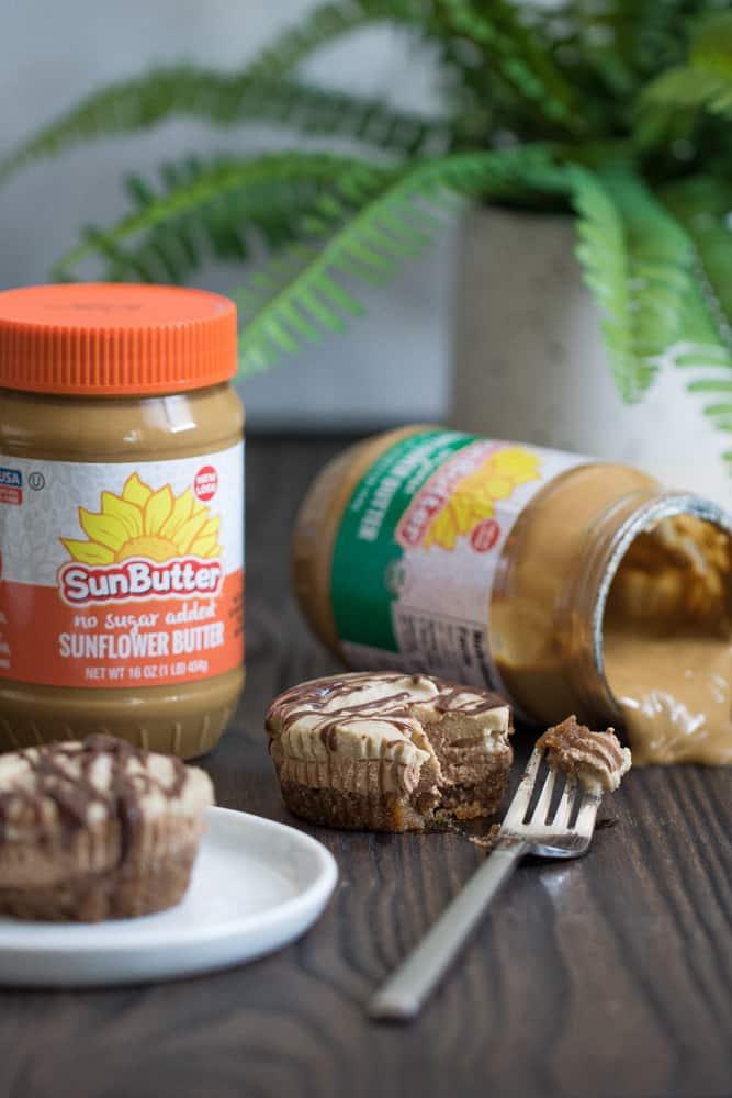 Vegan Chocolate + SunButter Cheesecake Bites