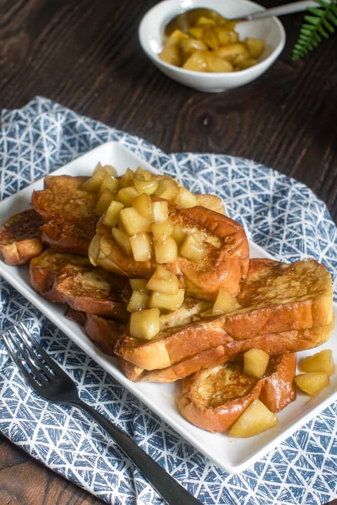 Delicious French Toast + Caramelized Apples