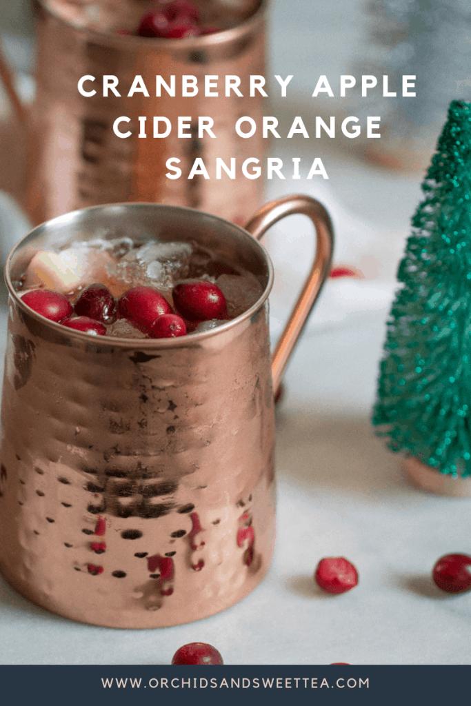 Cranberry Apple Cider Orange Sangria