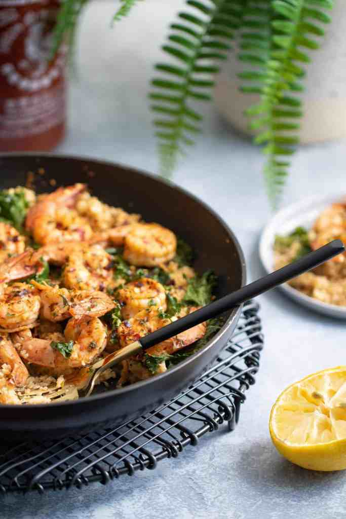 Spicy Cajun Shrimp + Cauliflower Rice