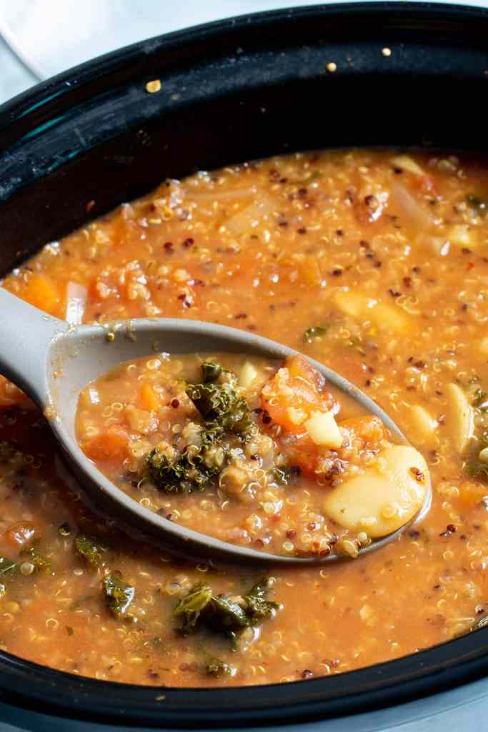 Slow Cooker Quinoa Veggie Soup