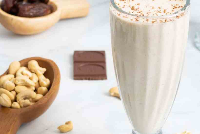 Healthy Cashew Date Morning Shake