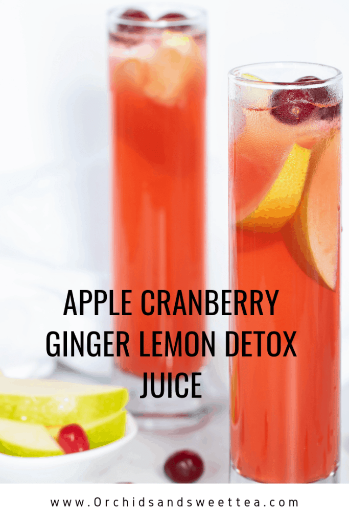 Apple Cranberry Ginger Lemon Detox Juice