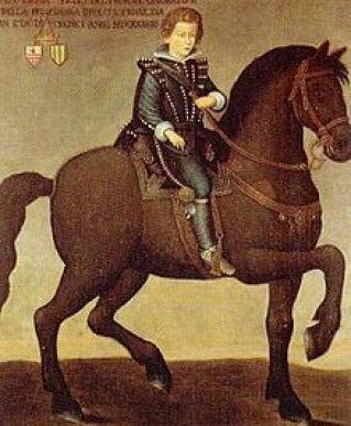 Hercules Grimaldi y Trivulzio, Land de Aragón y Gonzaga - Caballero de Alcantara
