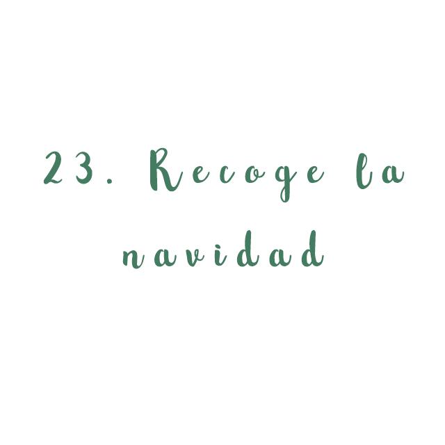 23. Recoge la navidad