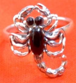 Skorpion Onyx Silber Ring Specials Herrenschmuck