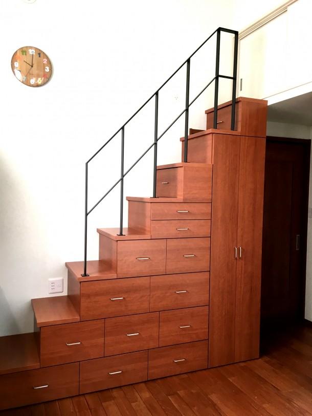 階段収納家具