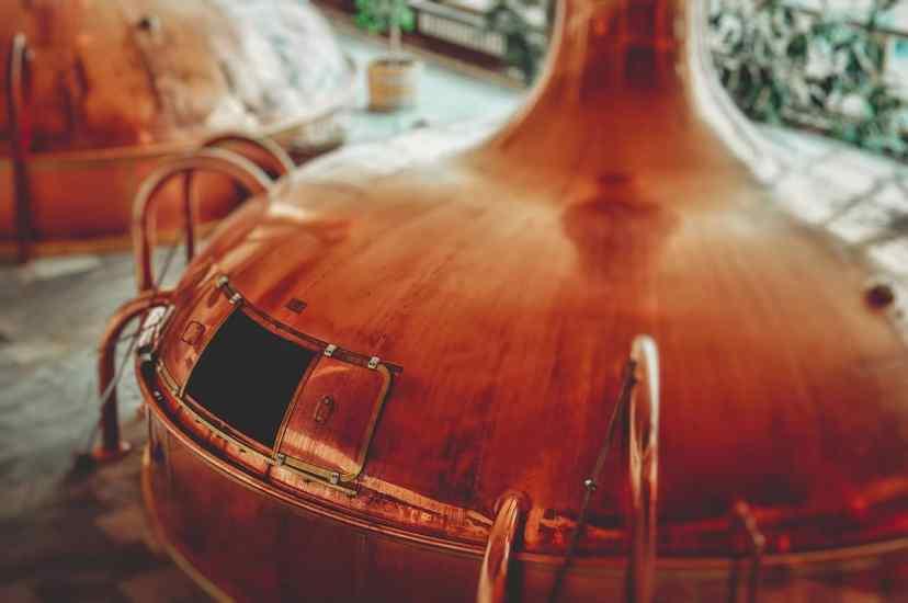 Kupferner Brauereikessel