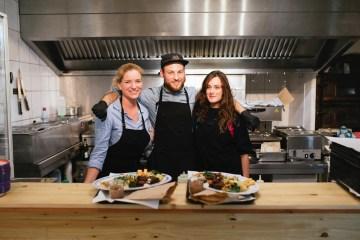 Das freundliche Team und Gastro-Gründerpreis Gewinner 2016 von Mashery - Humus Kitchen