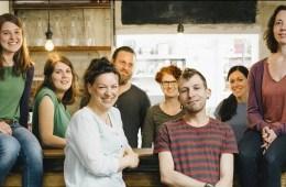 Das sympathische Team von Restlos Glücklich, dass sich gegen Lebensmittelverschwendung einsetzt.