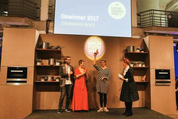 chickpeace freut sich über den Gastro-Gründerpreis 2017