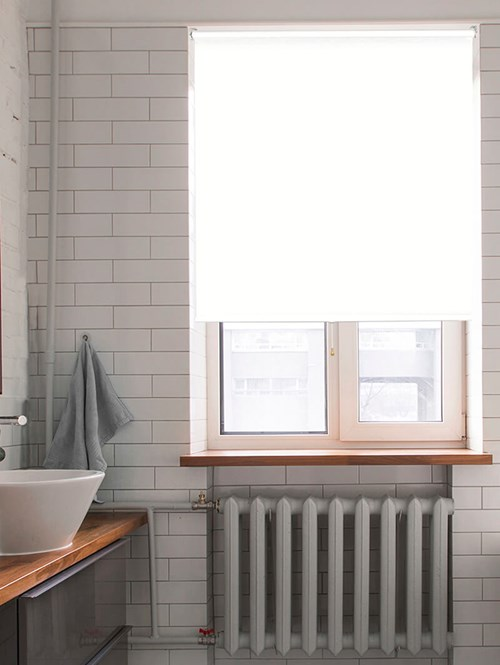 Waterproof White Cordless Spring Loaded Roller Blind