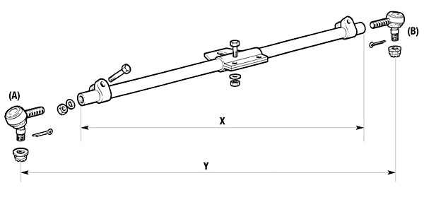 Command Steer Track Rods , Steering Axle Parts List