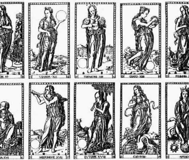 A Tarot Deck Depicting The Nine Muses Renaissance Era
