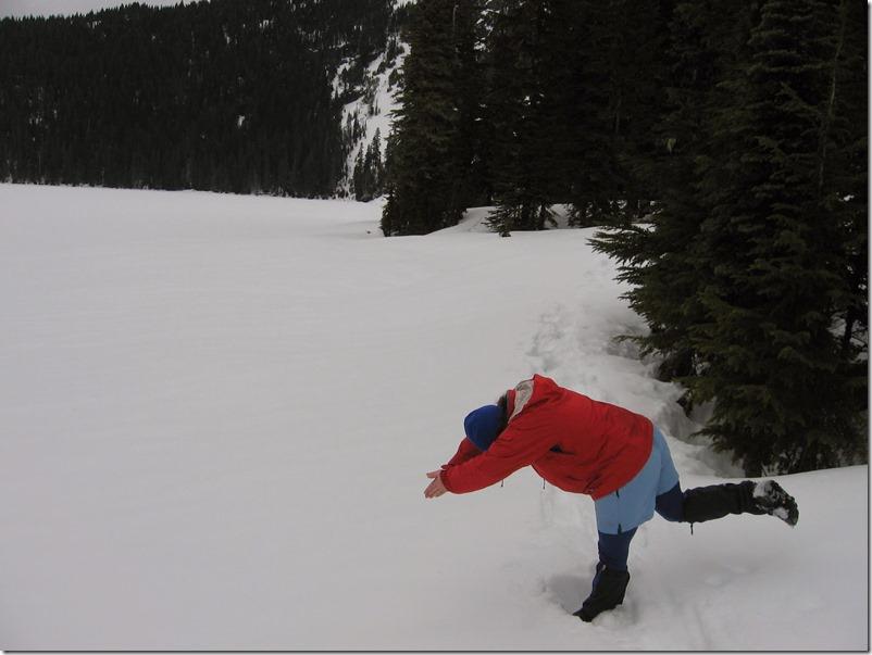 Mowich Lake Mt Rainier in Winter