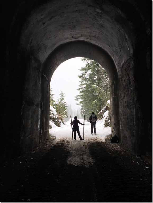 Whittier tunnel opening on the Iron Horse Trail