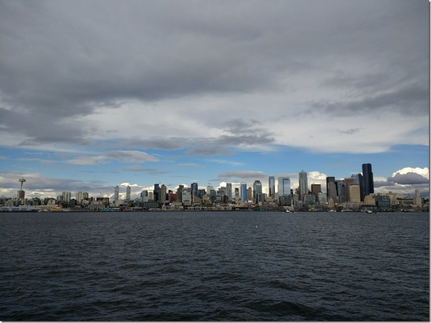 Seattle city skyline across the water