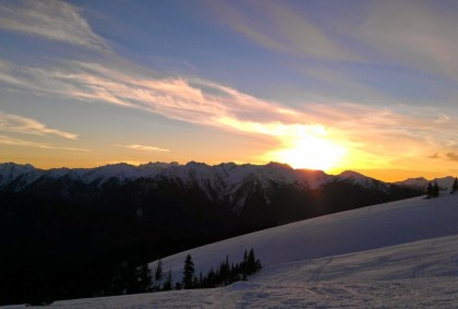 winter sunset at hurricane hill, Olympic National Park