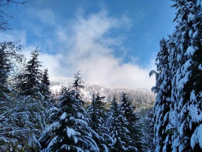 early season snow near snoqualmie pass