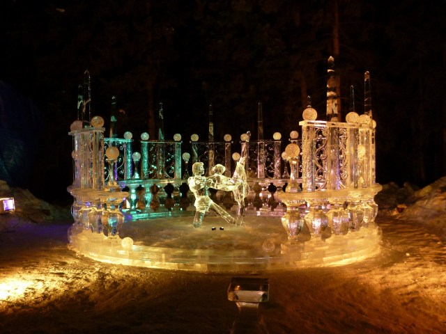 The ice art competition is one of the reasons why March is the best time to visit Fairbanks Alaska. For a few weeks the fairgrounds becomes a winter wonderland of intricate ice carvings large and small, as well as an ice playground!