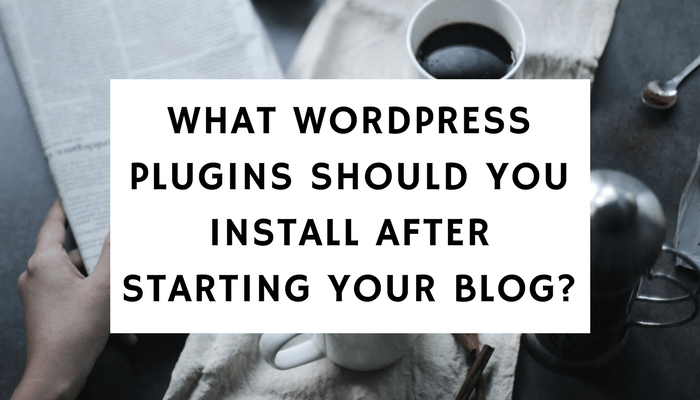 What WordPress Plugins Should You Install After Starting Your Blog?