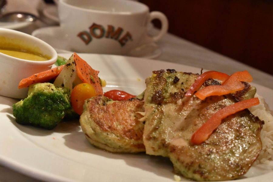 dome cafe johor premium outlet grilled chicken