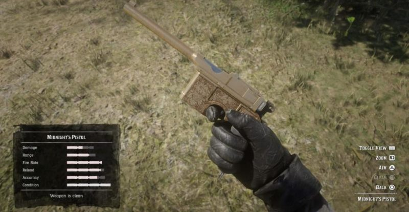 best pistol in rdr2