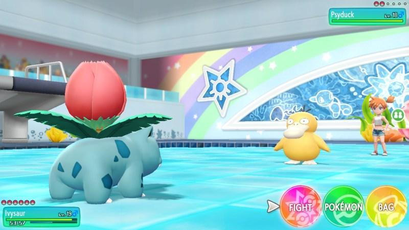 pokemon let's go effective pokemon against misty's gym