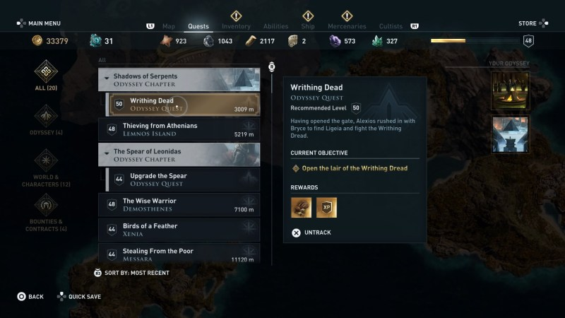 Assassin S Creed Odyssey Writhing Dead Kill Medusa Rare Norm
