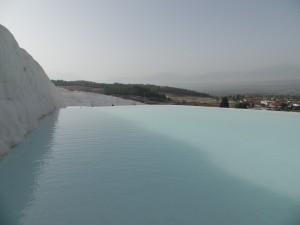 Warm silty pools that drain into the horizon.