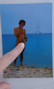 Found this postcard of a naked man eating grapes in front of a boat.  I haven't seen the live version yet...