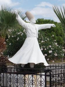 Dervish statue near Ayvalik, Turkey