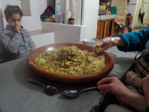 The finished dish!  Rfissa!!