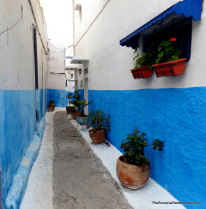 Wandering through the Casbah--oh, those blue walls are so zwin!
