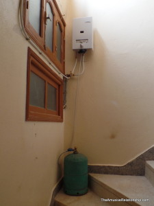 Our gas hot water heater.