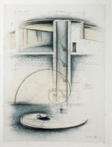 Artist's vision of the Inner staircase