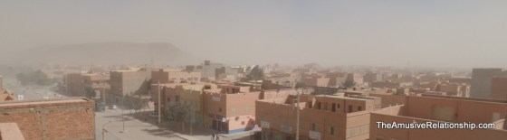 A recent sandstorm