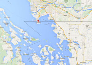 The tiny peninsula of Point Roberts, Washington State