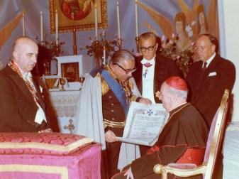 conte Vincenzo Abbate nomina Gran priore il Card Ottaviani