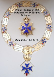 Gran Collare Ordine Militare del SS. Salvatore e di S. Brigida di Svezia