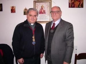 P. F. Petrillo con la Croce dell'Ordine