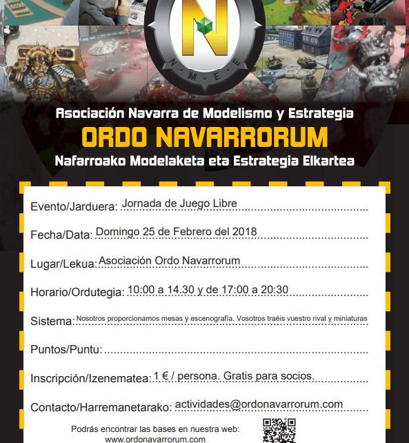 Actividad de Juego Libre Ordo Navarrorum