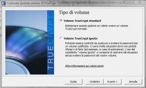 TrueCrypt: Tipo di Volume