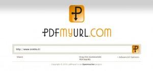 Pdf My Url: trasformare pagine in PDF