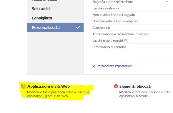 Facebook rimozione app 2010