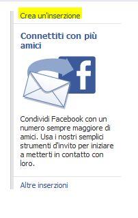 Crea Inserzione su Facebook