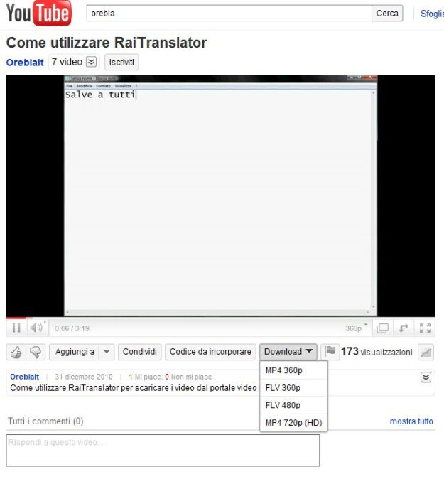 Opera FastestTube download video youtube