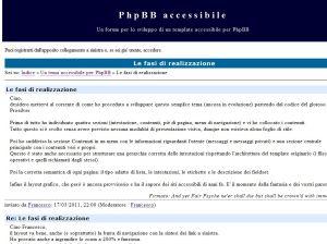 Tema Accessibile per PhpBB Messaggi