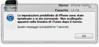 Avviso fine aggiornamento iOS 5