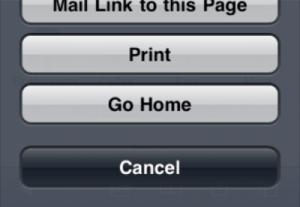 Home Button su Safari